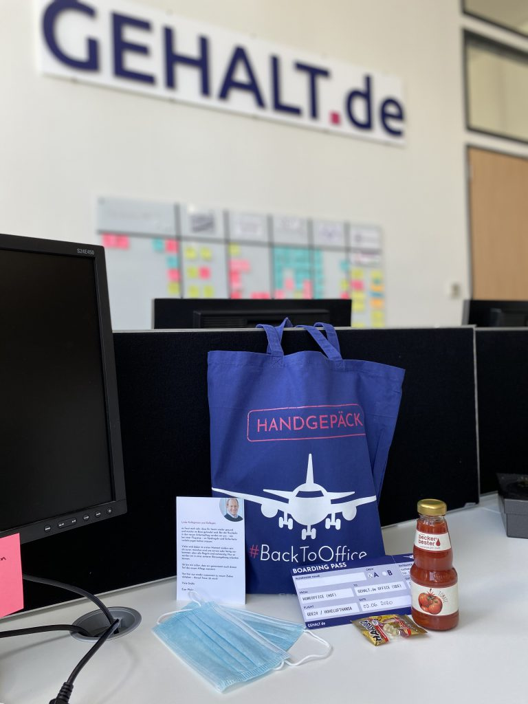 Handgepäck #BackToOffice Gastbeitrag iafob deutschland